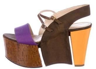 Fendi Platform Sandal Wedges