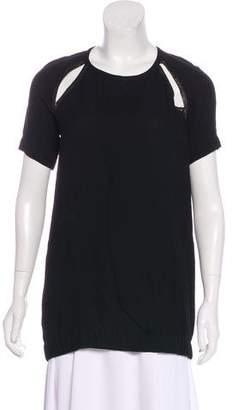 A.L.C. Short Sleeve Draped Top