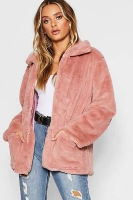 boohoo Super Soft Faux Fur Coat