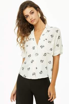 Forever 21 Telephone Print Shirt