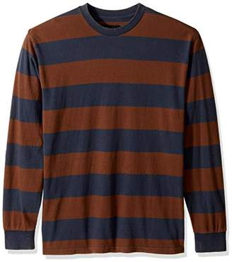 Brixton Men's Laughlin Standard Fit Striped Long Sleeve Knit Shirt