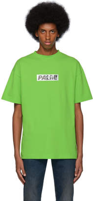 Palm Angels Green Palm T-Shirt