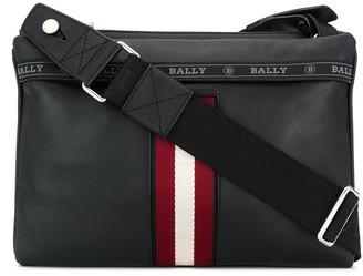 Bally logo stripe messenger bag