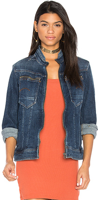 G-Star Arc Zip 3D Slim Jacket in Blue $230 thestylecure.com