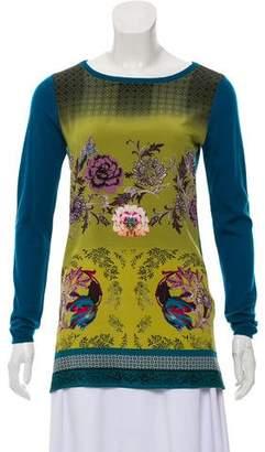 Etro Silk Printed Wool Sweater