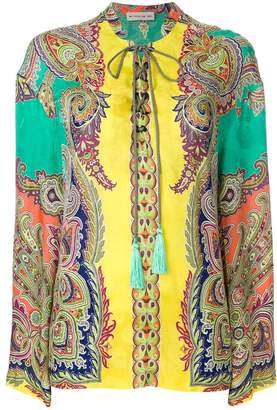 Etro oversized mixed paisley print blouse
