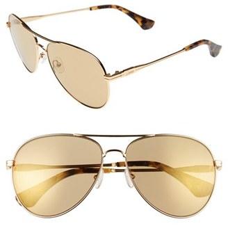 Women's Sonix Lodi 62Mm Mirrored Aviator Sunglasses - Amber Mirror/ Gold $79 thestylecure.com