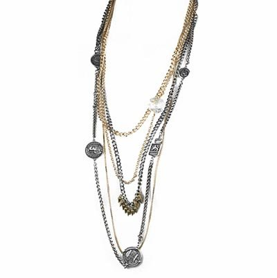 Vale Layered Mixed Metal Coin Necklace