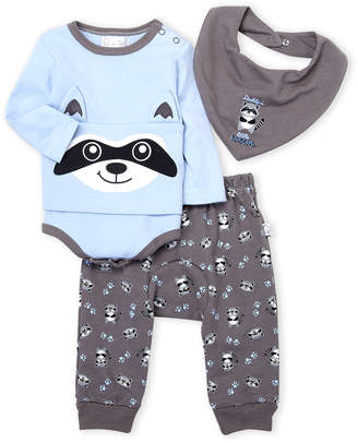 Baby Essentials Quiltex (Newborn Boys) 3-Piece Little Rascal Bib, Bodysuit & Sweatpants Set