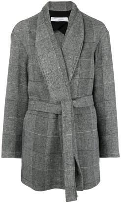 IRO Broadway belted mini coat