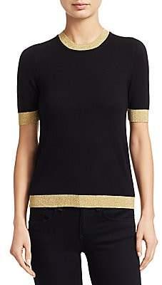 Gucci Women's Short Sleeve Cashmere & Silk Knit Tee