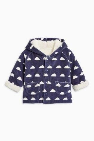 Boys Navy Cloud Velour Jacket (0mths-2yrs) - Blue