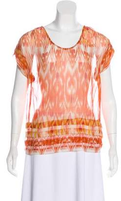 Joie Silk Printed Blouse