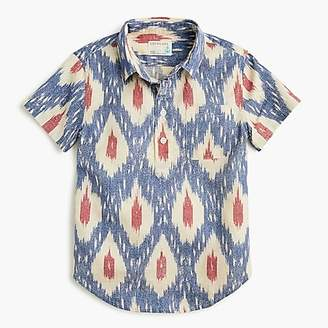 J.Crew Boys' short-sleeve popover shirt in ikat