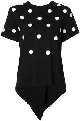 Oscar de la Renta polka-dot embroidered T-shirt