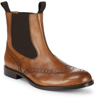 Matteo Massimo Men's Double Gore Perforated Leather Boots