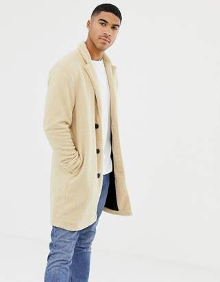 Pull&Bear borg jacket in ecru