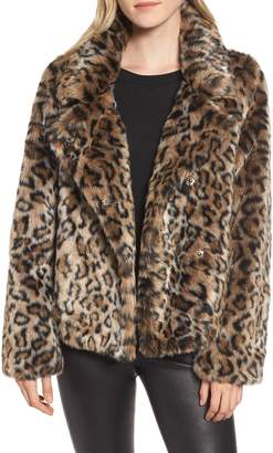 Sam Edelman Faux Fur Leopard Jacket