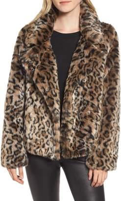 Sam Edelman Faux Fur Leopard Jacket