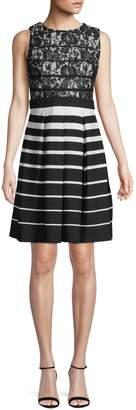Gabby Skye Floral Striped Print Dress