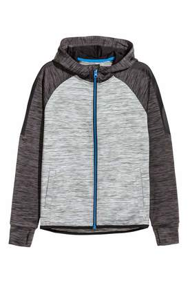 H&M Hooded Sports Jacket - Gray melange - Kids