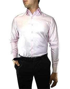 Nigel Lincoln Bobby Weave Slim Fit Shirt With Cuff Trim