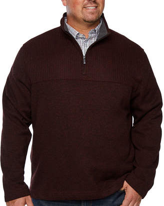Van Heusen Collar Neck Long Sleeve Pullover Sweater - Big and Tall