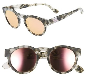 Women's Olivia Palermo X Westward Leaning 'Voyager' Mirrored Sunglasses - Pepper Tortoise/ Rose Gold $225 thestylecure.com