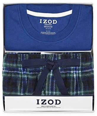 Izod Mens Pant Pajama Set 2-pc. Short Sleeve