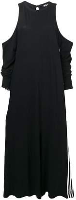 Y-3 open shoulder jumpsuit