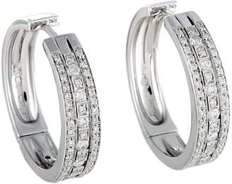 Damiani 18K 0.89 Ct. Tw. Diamond Hoops