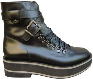 Robert Clergerie Leather buckled boots