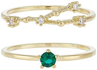 Accessorize May Birthstone Stacking Ring Set