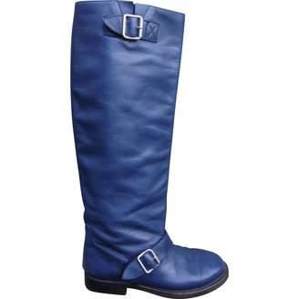 Paul & Joe Blue Leather Boots