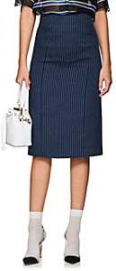 Fendi Women's Striped Cotton-Blend Pencil Skirt-Navy