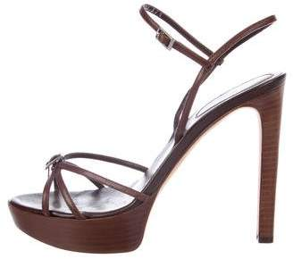 Sergio Rossi Leather High-Heel Sandals