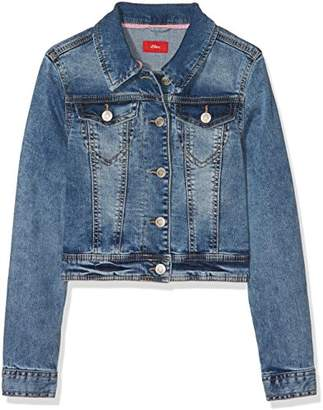 S'Oliver Girl's 73.803.51.4318 Jacket, (Blue Denim Stretch 55Z7)