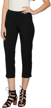 Women With Control Women with Control Petite Tummy Control Crop Pants with Pockets