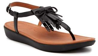 FitFlop Tia Fringe Leather Thong Sandal
