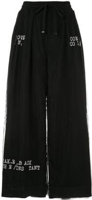 Puma Maison Yasuhiro high-waist wide leg trousers