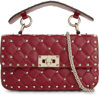 Valentino Rockstud small leather shoulder bag, Rosso