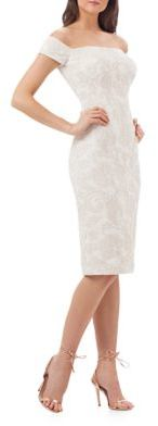 Js Collections Embroidered Cocktail Dress $249 thestylecure.com