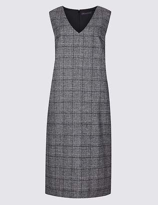 Marks and Spencer Checked V-Neck Tunic Dress