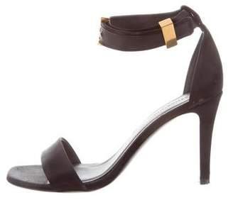 Celine Satin Ankle Strap Sandals