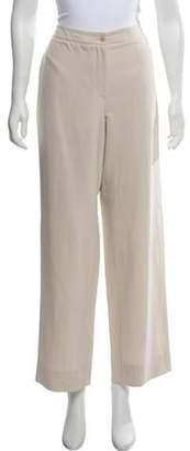 Giorgio Armani Silk Mid-Rise Pants Beige Silk Mid-Rise Pants