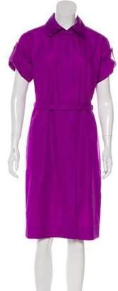 Akris Punto Collared Knee-Length Dress
