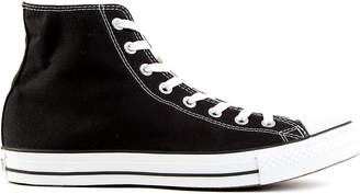 Converse black-canvas high-tops