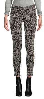 Hue Leopard Denim Leggings