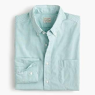 J.Crew Slim stretch Secret Wash shirt in gingham poplin