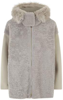 Emporio Armani Shearling Hooded Jacket